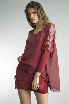 Tempo Paris Bordeaux Silk Dress - Product List Image