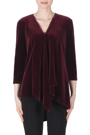 Joseph Ribkoff Bordeaux Velvet Top - Product Mini Image