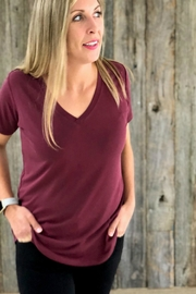 Another Love Bordeaux Vneck Tee - Product Mini Image