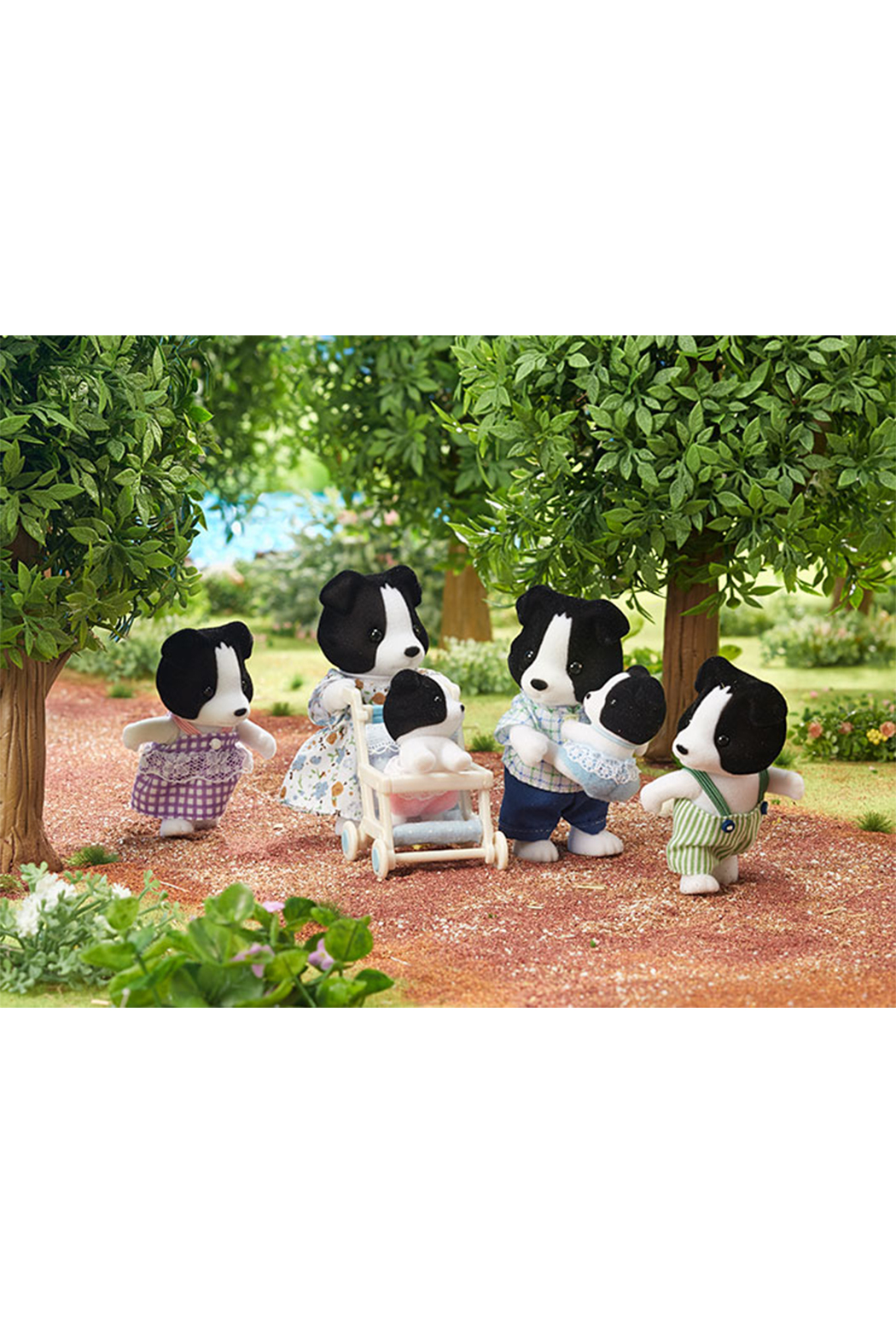 Calico Critters Border Collie Family - Front Full Image