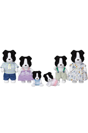 Calico Critters Border Collie Family - Front cropped