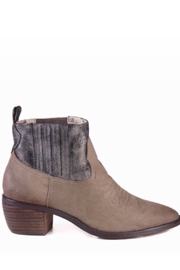 Band Of Gypsies Borderline Mirco Cow Suede Taupe Booties - Front full body
