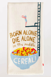 Blue Q Born Alone Dish Towel - Product Mini Image