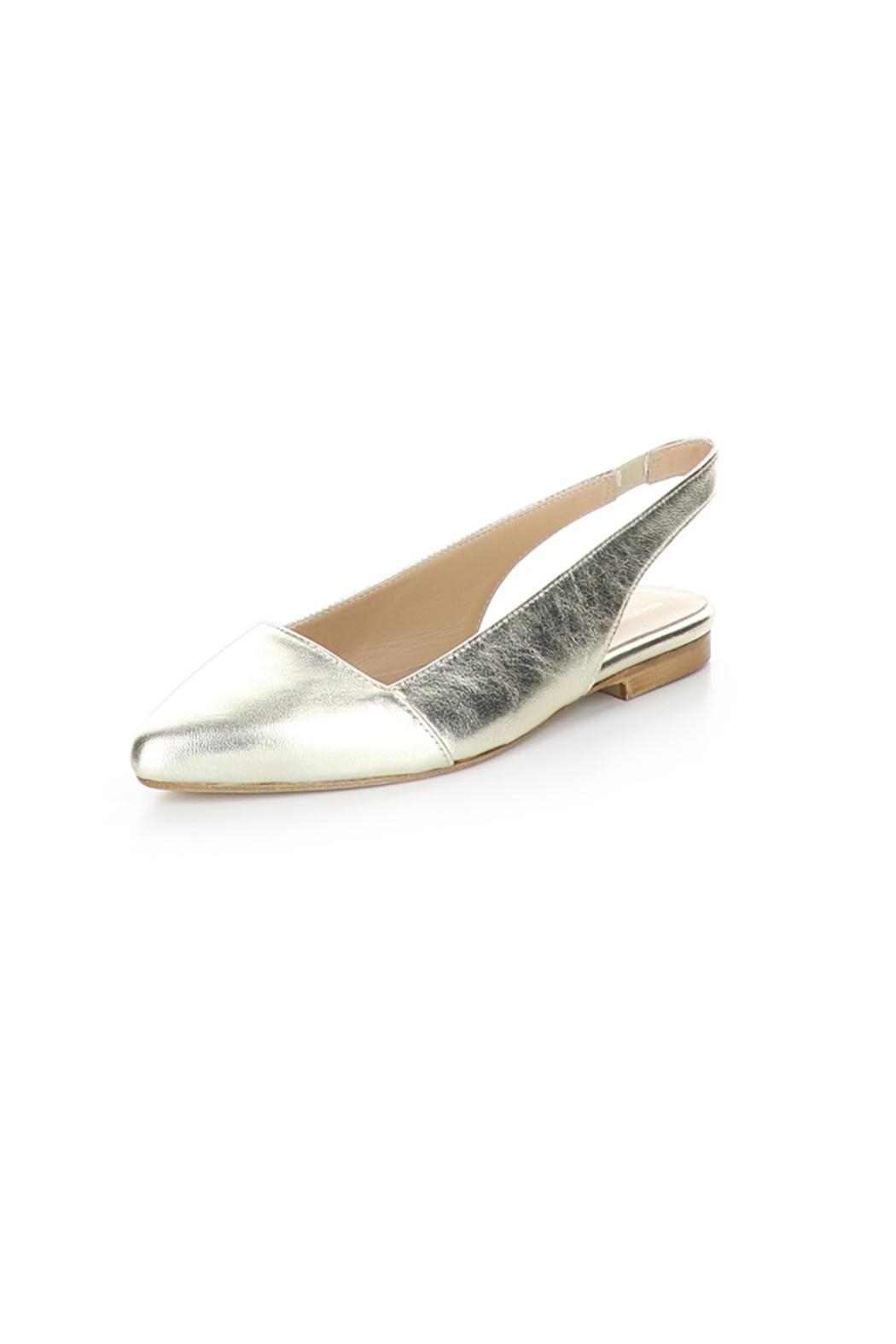 Bos & Co. Gold Filo Leather Slingback Ballet Flat - Main Image