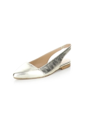 Bos & Co. Gold Filo Leather Slingback Ballet Flat - Front cropped