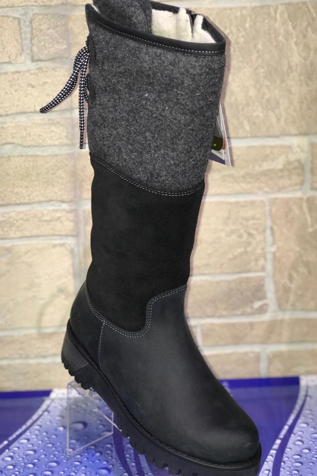 Bos & Co. Bos&Co Goose Waterproof Boiled Wool Mid Calf Boot - Front Cropped Image