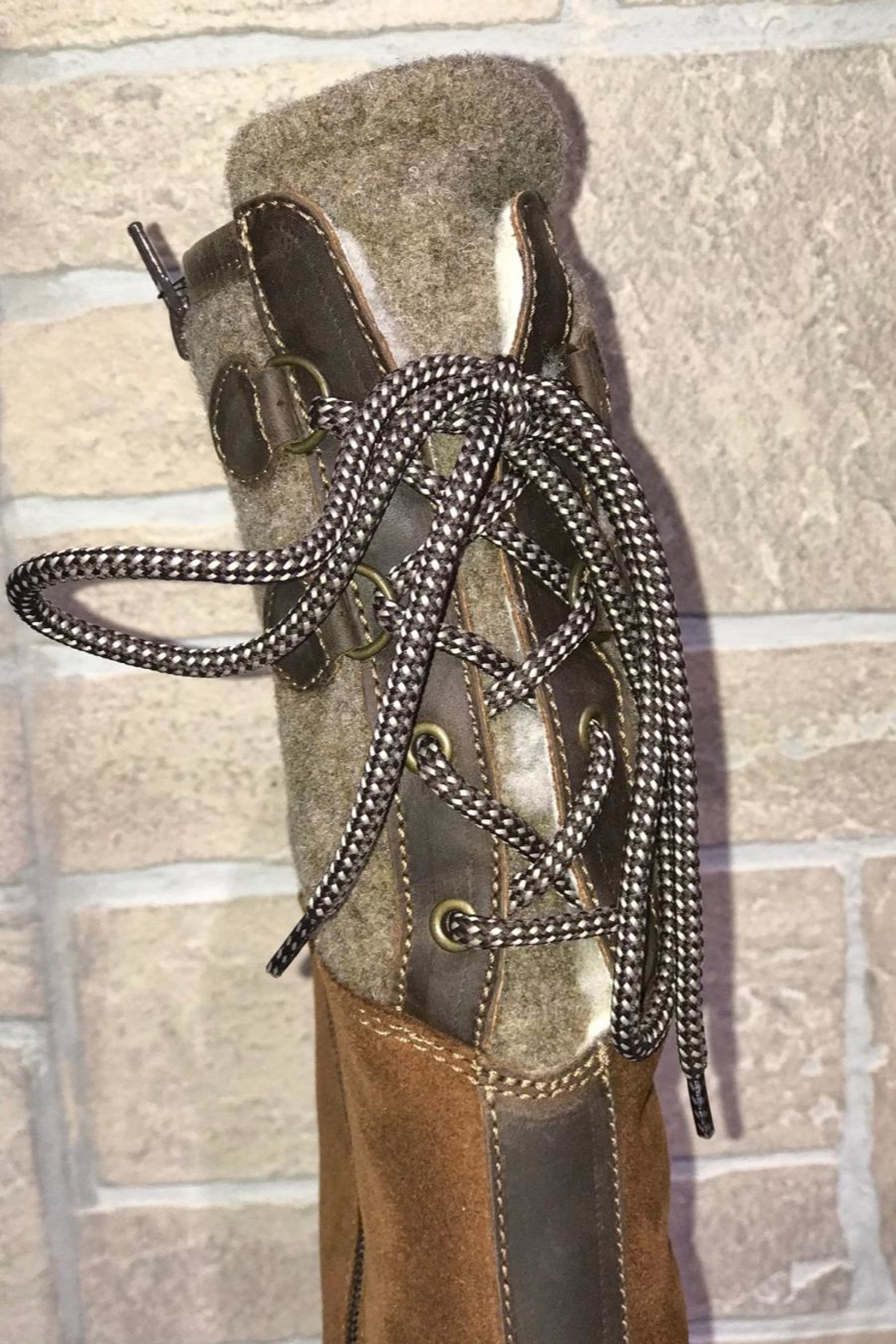 Bos & Co. Bos&Co Goose Waterproof Boiled Wool Mid Calf Boot - Front Full Image