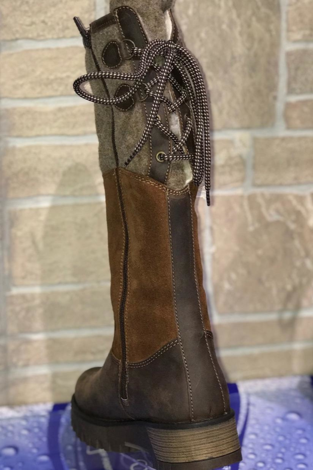 Bos & Co. Bos&Co Goose Waterproof Boiled Wool Mid Calf Boot - Side Cropped Image