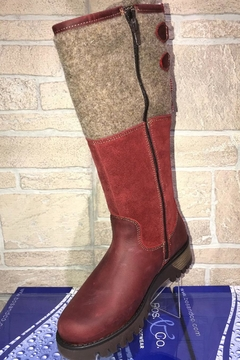 Shoptiques Product:  Bos&Co Goose Waterproof Boiled Wool Mid Calf Boot
