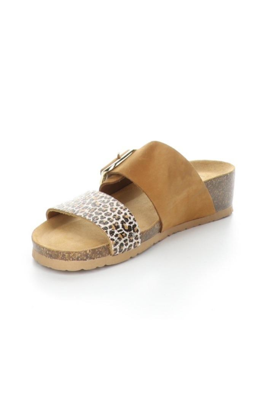 Bos & Co. Lapo Sandal In Brandy / Angelica - Side Cropped Image