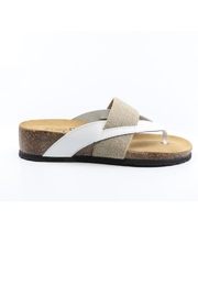 Bos & Co. Lars White & Lather Sandals - Product Mini Image