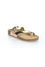 Bos & Co. Parr Rose Gold Mirror Sandal - Product Mini Image