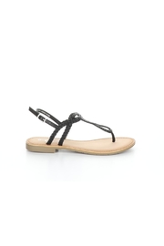 Bos and Co Gael Black Sandal - Front full body