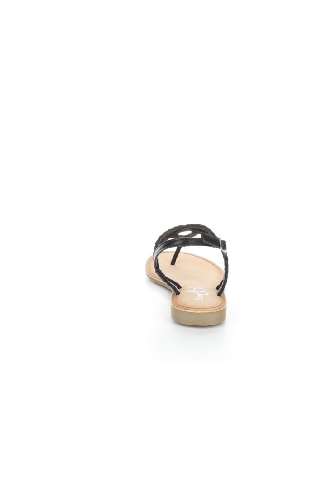 Bos and Co Gael Black Sandal - Back Cropped Image