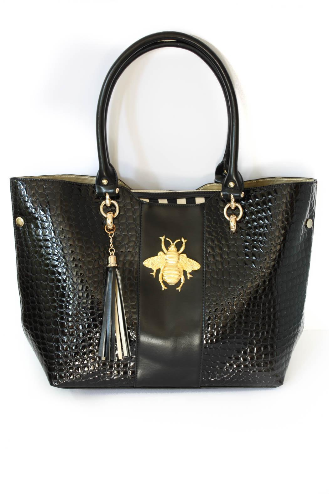 Bosom Buddy Bags Bee Croc Bag Front Cropped Image