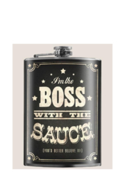 Trixie & Milo Boss With The Sauce - Flask - Front full body