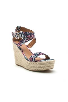 Qupid Boston Floral Wedge - Product List Image