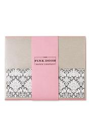 Boston International Damask Notecard Set - Front cropped
