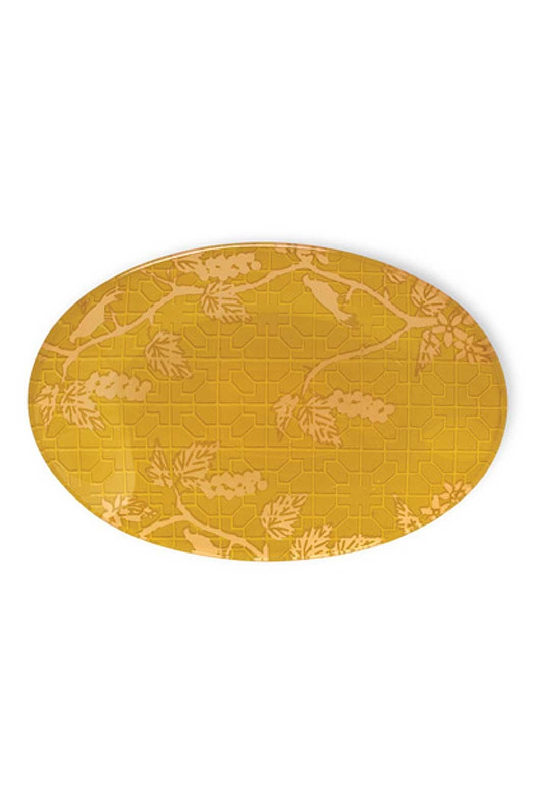 Boston International Cassis Oval Glass Plate - Front Cropped Image