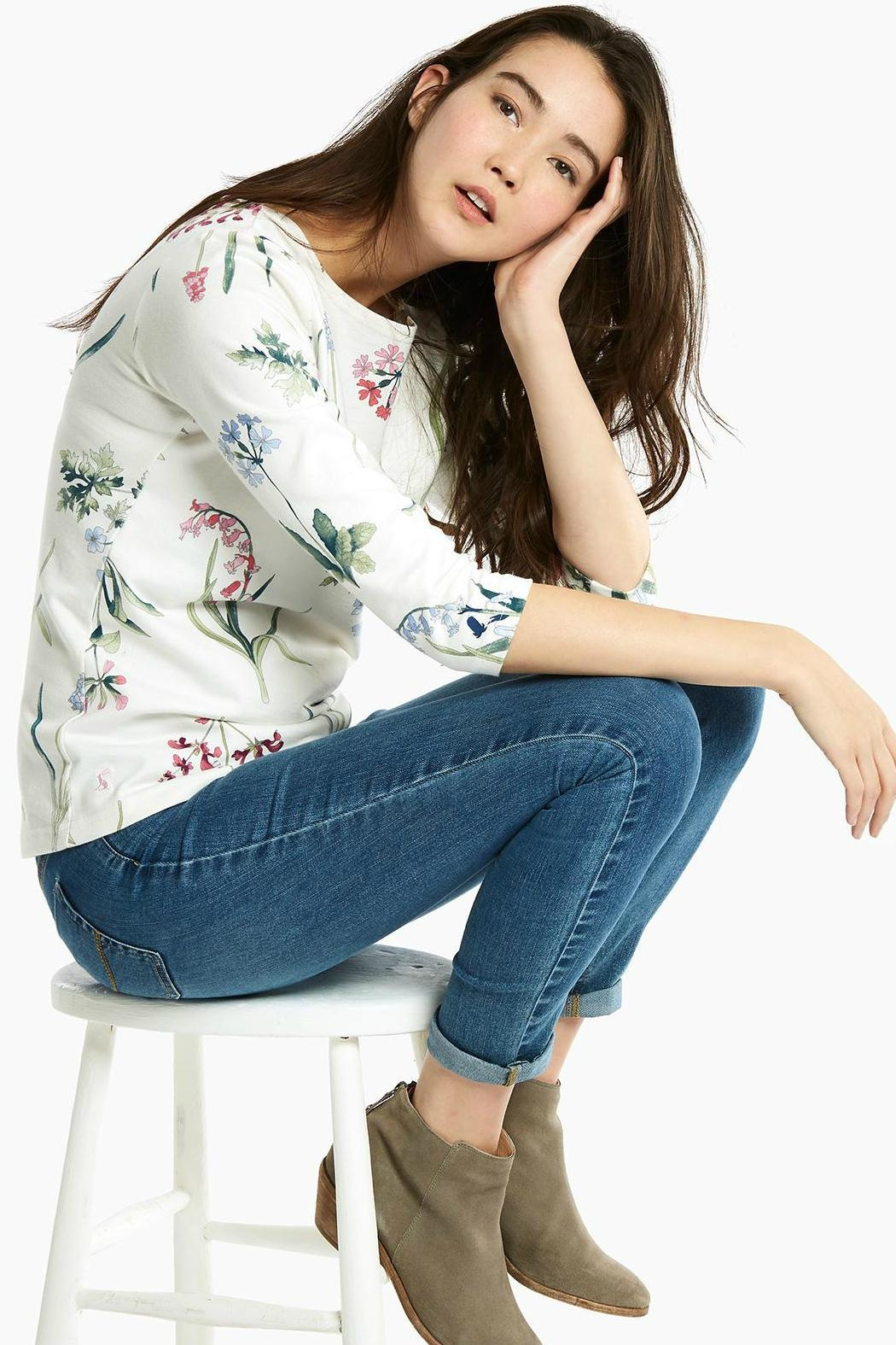 Joules Botanical Print Top - Front Full Image