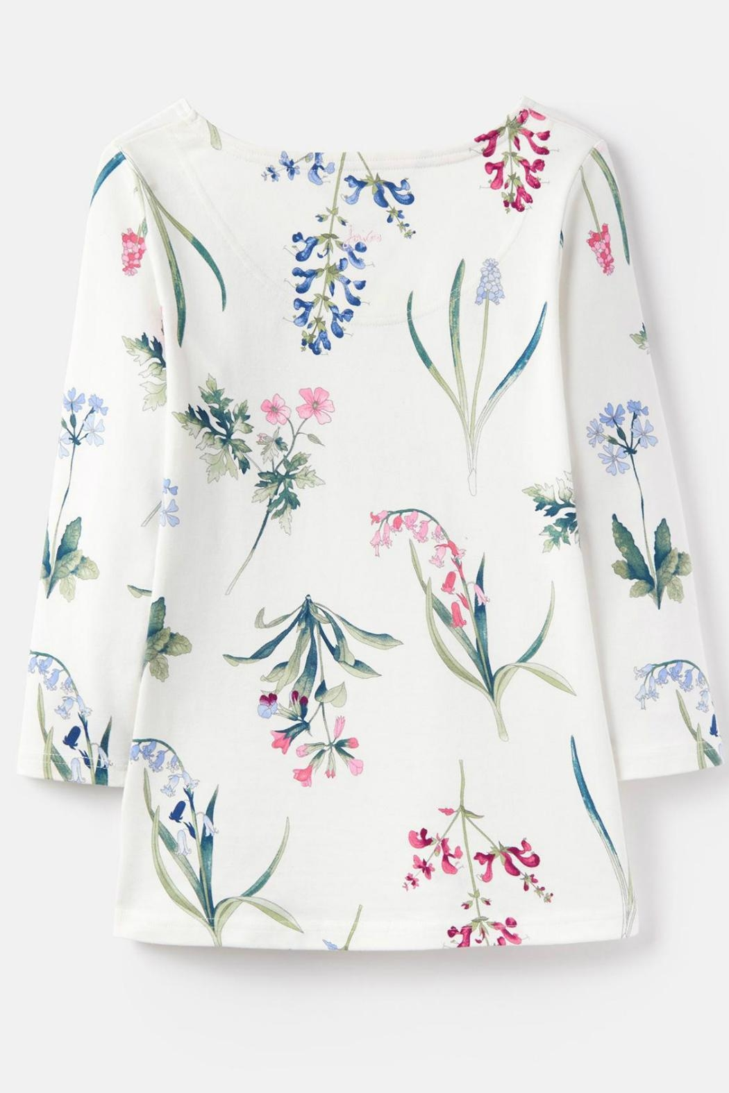 Joules Botanical Print Top - Back Cropped Image