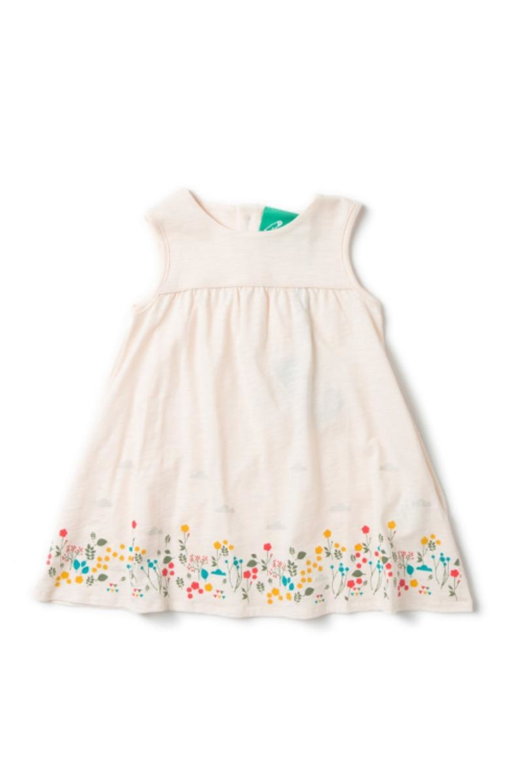 Little Green Radicals Botanical Storytime Dress - Front Cropped Image
