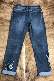 Tru Luxe Botonical Embrodiered Jean - Front full body