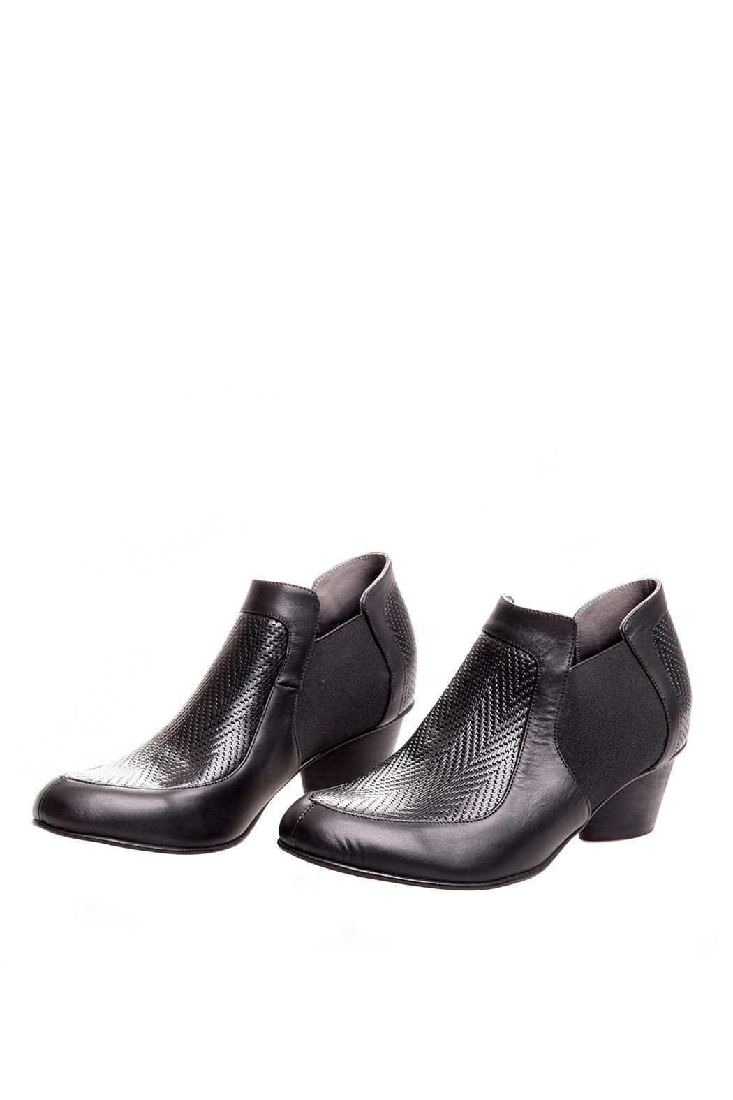 Bottega Bash Black Leather Booties - Main Image