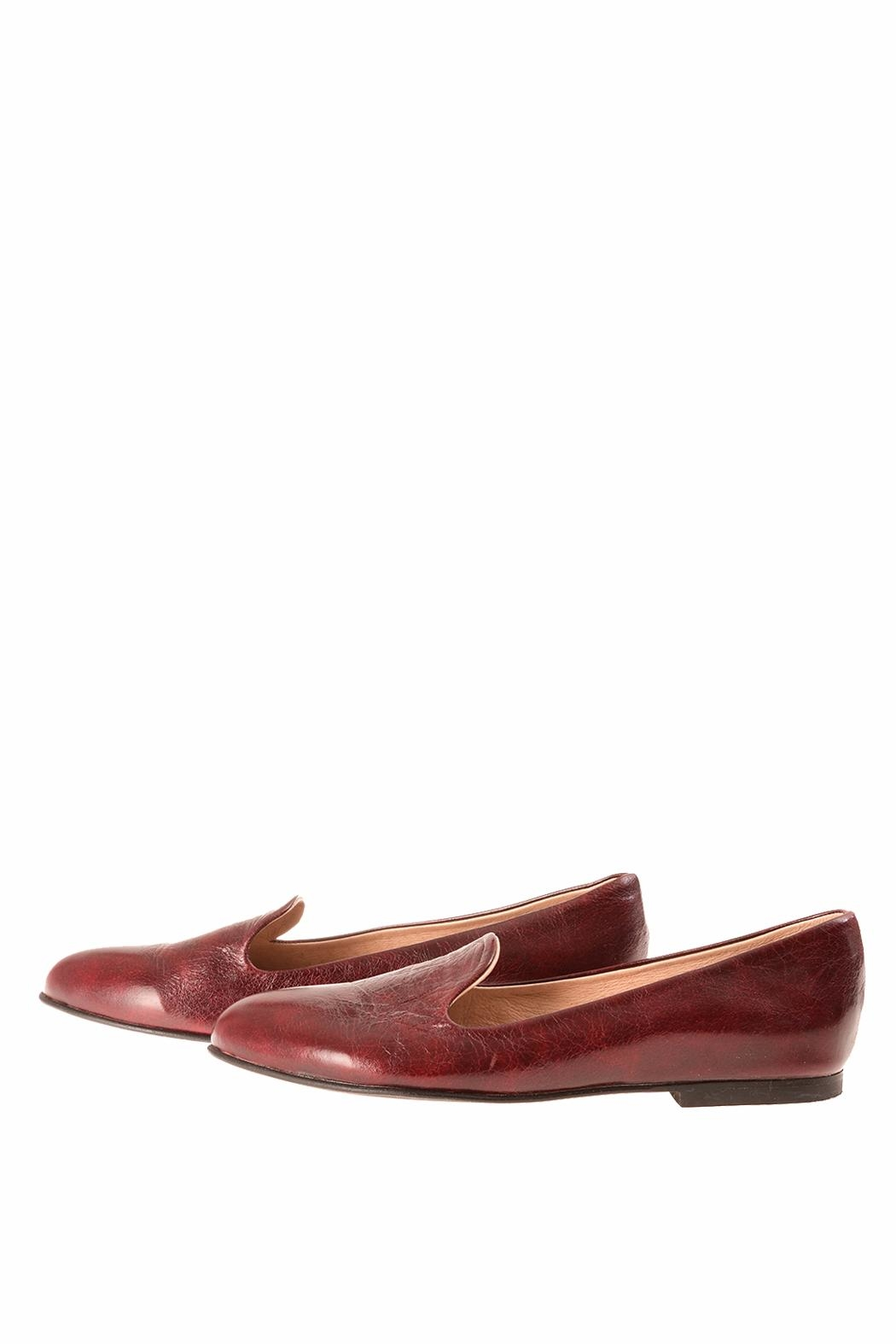 Bottega Bash Bourdeaux Leather Loafers - Front Cropped Image