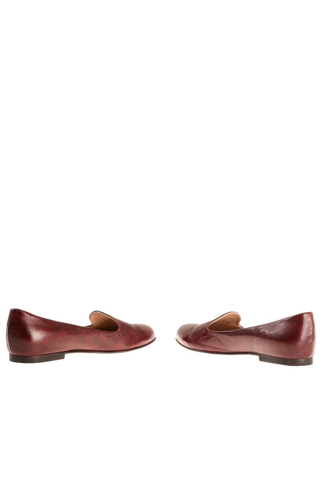 Bottega Bash Bourdeaux Leather Loafers - Side Cropped Image