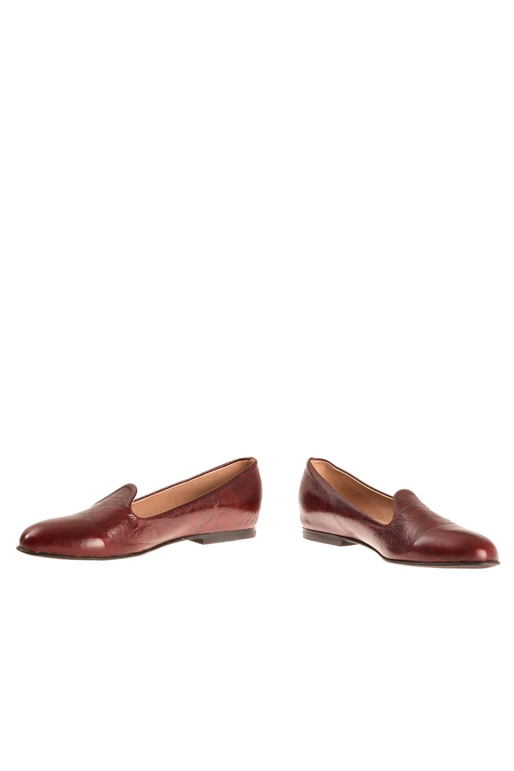 Bottega Bash Bourdeaux Leather Loafers - Front Full Image