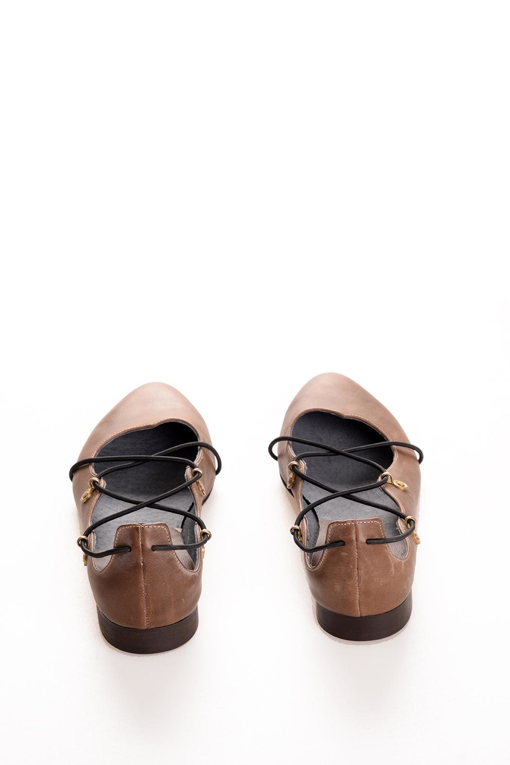 Bottega Bash Brown Leather Loafers - Side Cropped Image