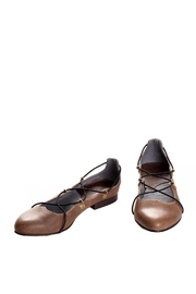 Bottega Bash Brown Leather Loafers - Front cropped
