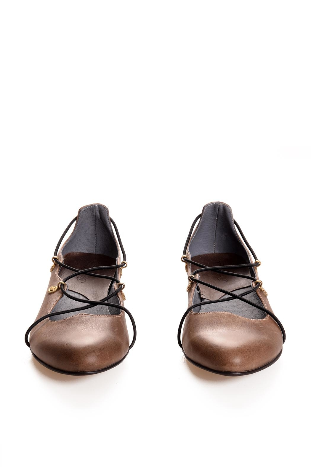 Bottega Bash Brown Leather Loafers - Front Full Image
