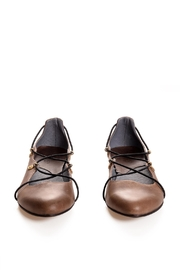 Bottega Bash Brown Leather Loafers - Front full body