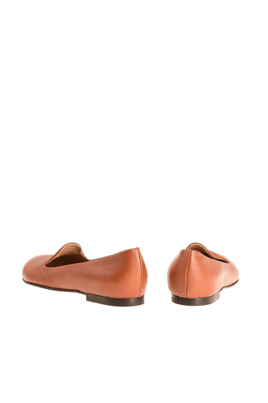 Bottega Bash Camel Leather Loafers - Side Cropped Image