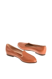 Bottega Bash Camel Leather Loafers - Front full body