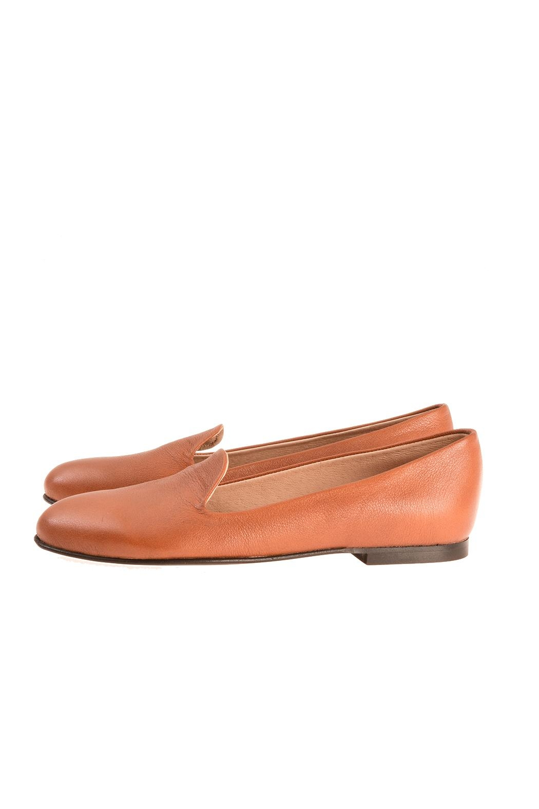 Bottega Bash Camel Leather Loafers - Main Image