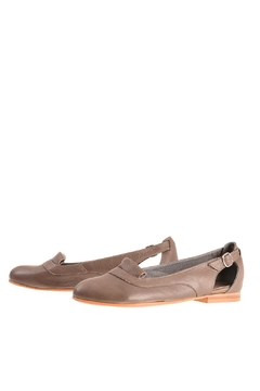 Shoptiques Product: Gray Leather Loafers