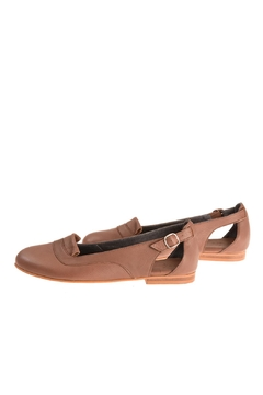 Shoptiques Product: Mocha Leather Loafers