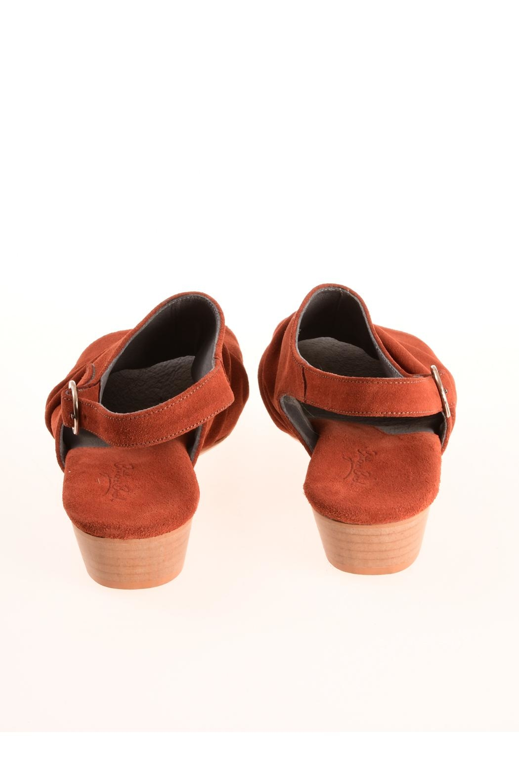 Bottega Bash Orange Suede Sandal - Side Cropped Image