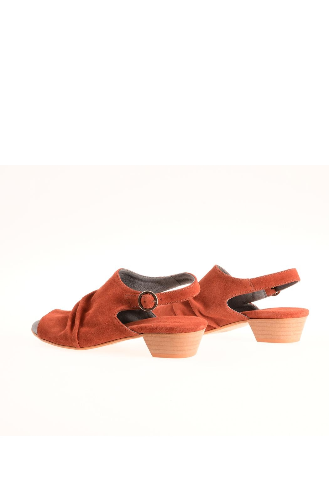 Bottega Bash Orange Suede Sandal - Front Cropped Image