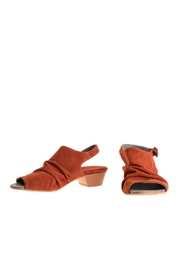 Bottega Bash Orange Suede Sandal - Back cropped