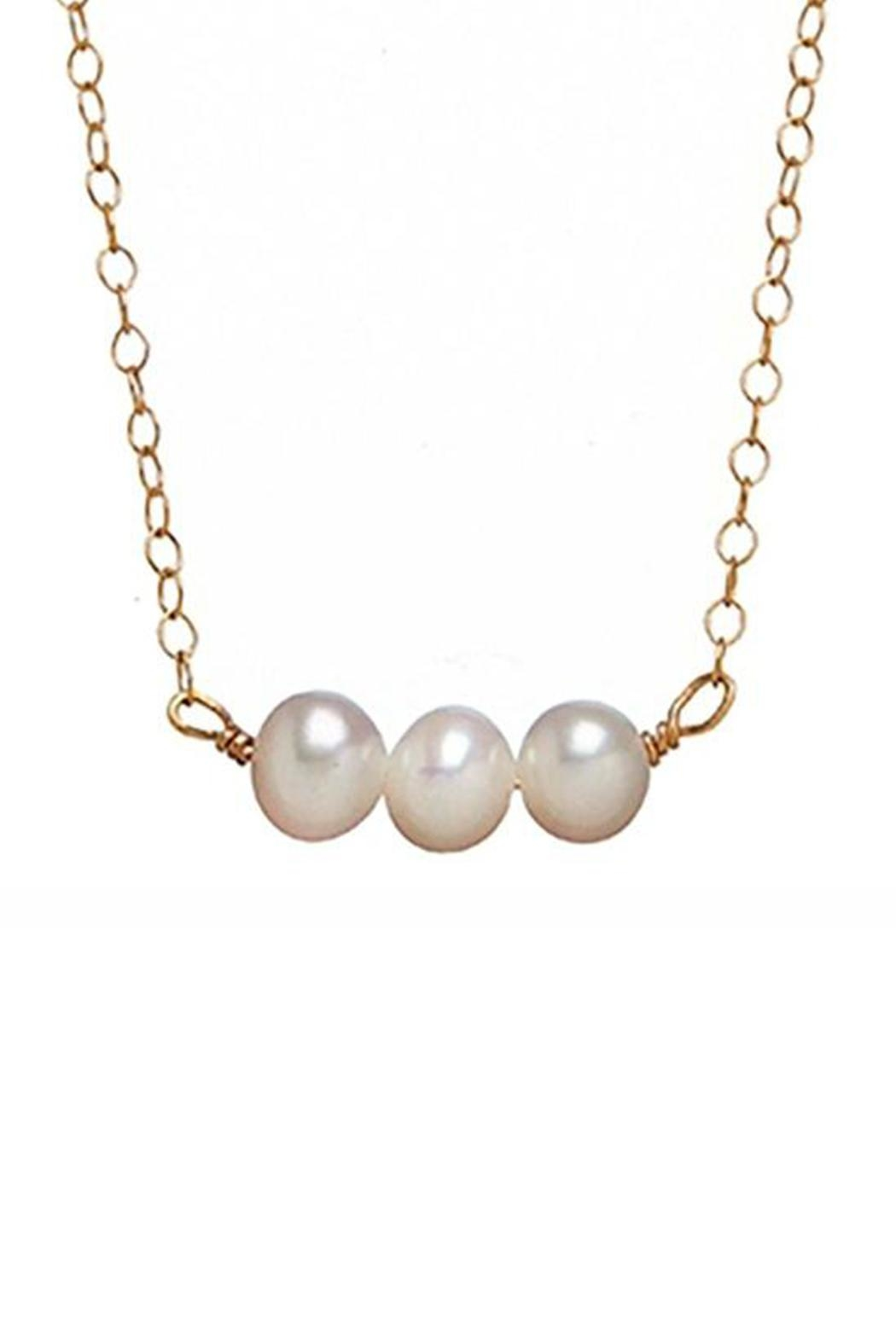 Bottleblond Jewels Three Pearl Necklace - Main Image
