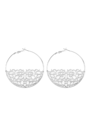 Riah Fashion Bottom-Filigree Hoop Earrings - Product Mini Image