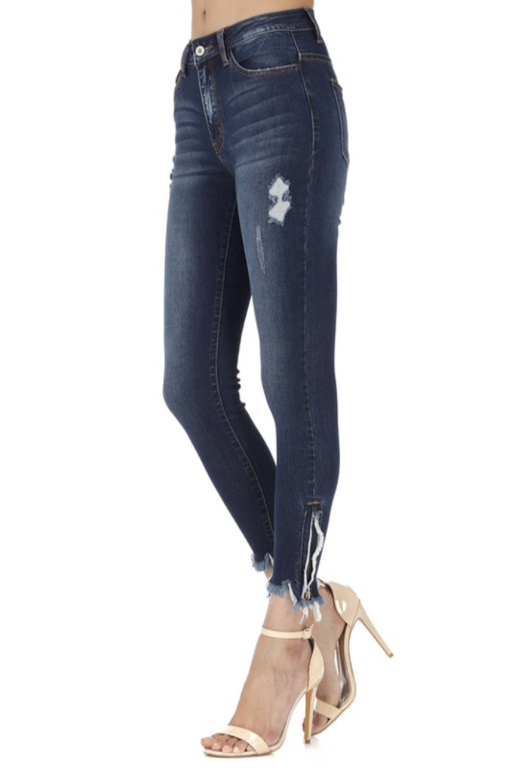 KanCan Bottom Zipper Jeans - Front Full Image