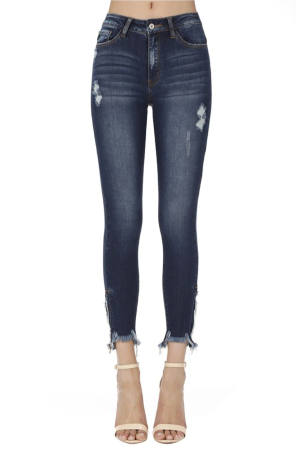 KanCan Bottom Zipper Jeans - Main Image