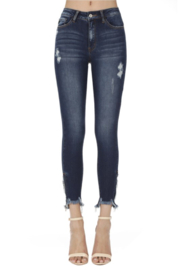 KanCan Bottom Zipper Jeans - Front cropped