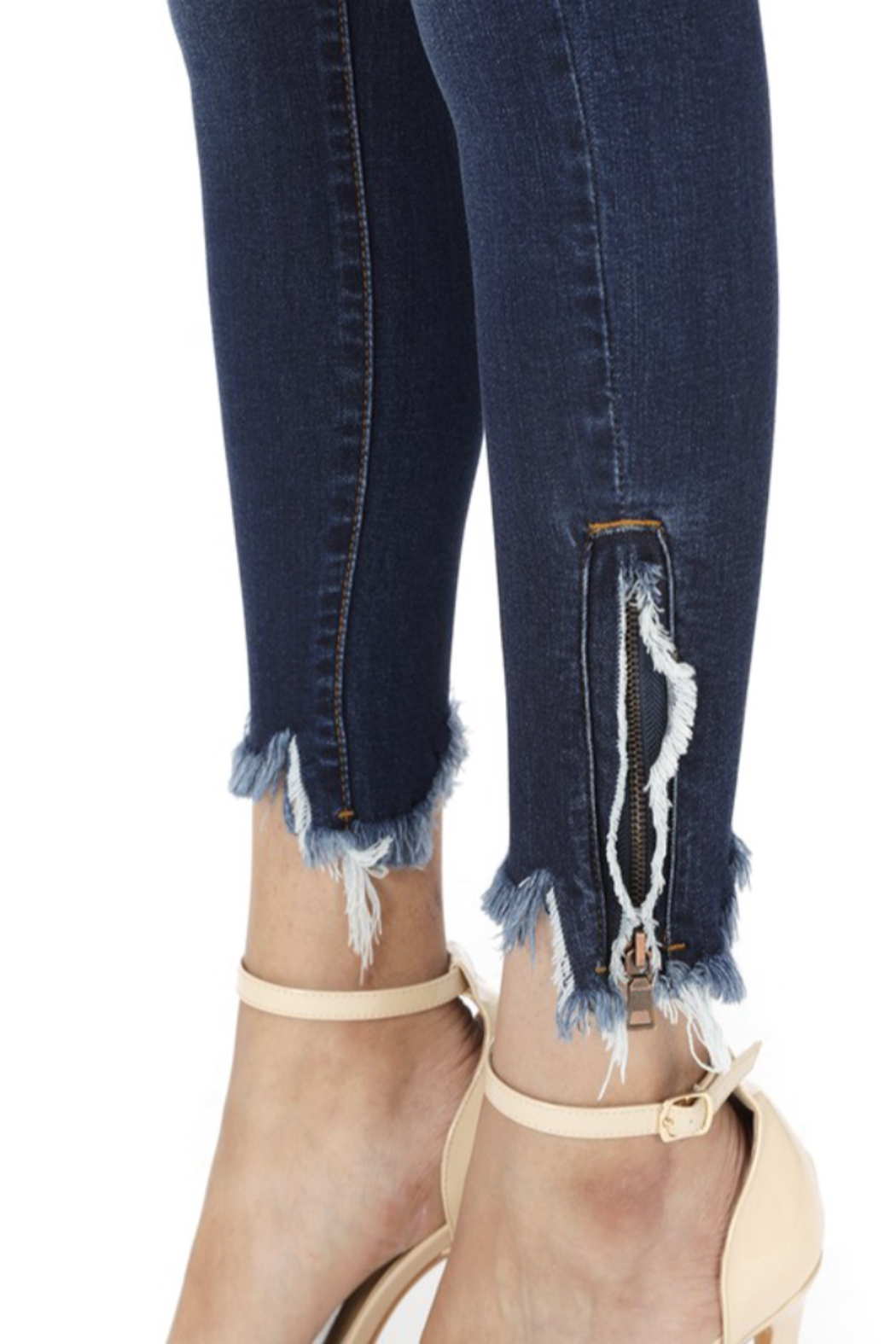 KanCan Bottom Zipper Jeans - Back Cropped Image