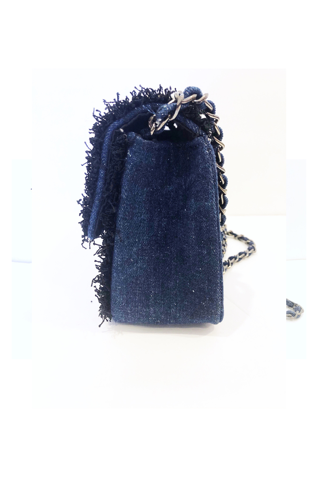 INZI Boucle Handbag with Pearl Adornments - Front Full Image